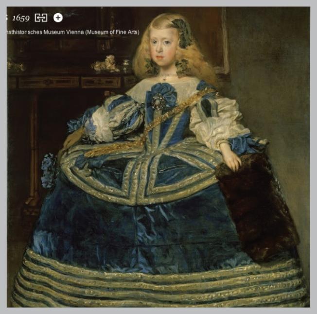 Infanta Margarita en azul. Velázquez, 1659